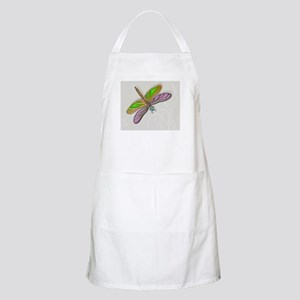Purple Green Dragonfly in Reeds Apron