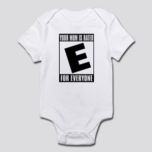 your mom is rated Infant Bodysuit