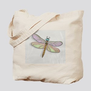 Lavender and Light Green Dragonfly Tote Bag