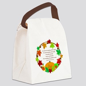 Thanksgiving Wreath Canvas Lunch Bag