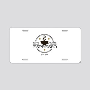 Coffee Saying Aluminum License Plate