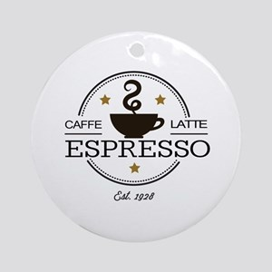Coffee Saying Ornament (Round)