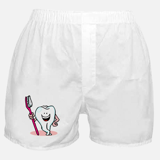 Happy Toothbrush Dentist / Dental Hygienist Boxer