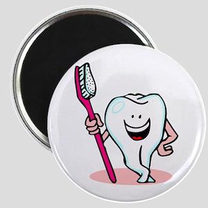 Happy Toothbrush Dentist / Dental Hygienist Magnet