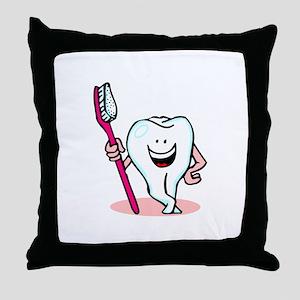 Happy Toothbrush Dentist Dental Office Throw