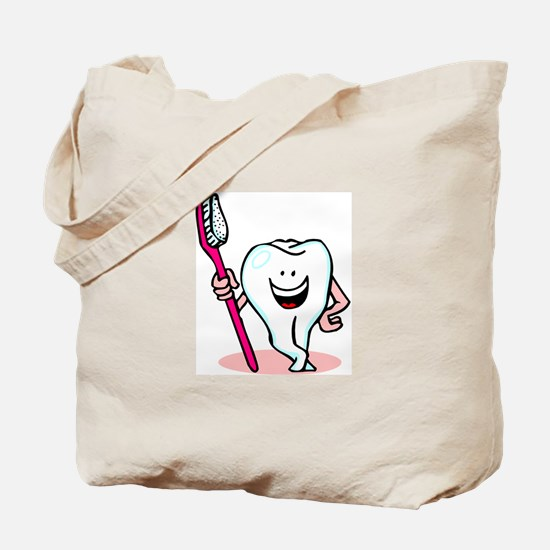 Happy Toothbrush Dentist / Dental Hygienist Tote B