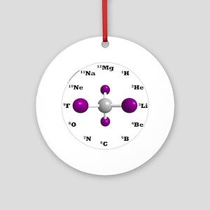 molecule clock purple Round Ornament
