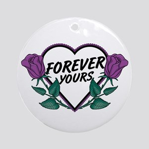 Forever Yours P Roses Ornament (Round)