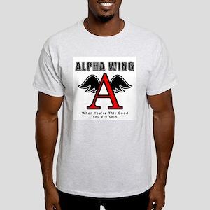 Alpha Wing Ash Grey T-Shirt