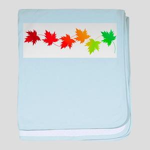Fall Leaves baby blanket