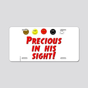 Precious In His Sight Aluminum License Plate