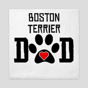 Boston Terrier Dad Queen Duvet