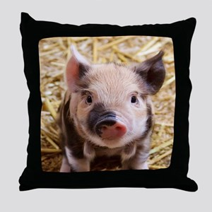 sweet piglet Throw Pillow