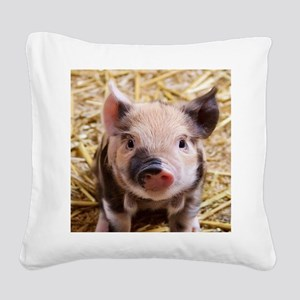 sweet piglet Square Canvas Pillow