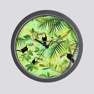 Toucans, Tropical Forest Wall Clock