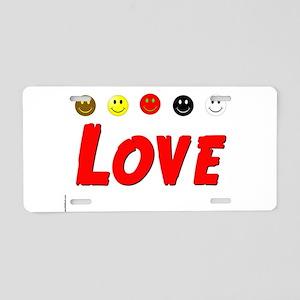 Love Aluminum License Plate
