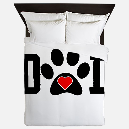Beagle Dad Queen Duvet
