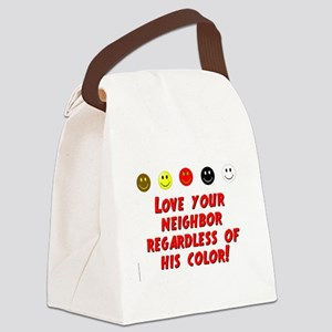 Love Your Neighbor Canvas Lunch Bag