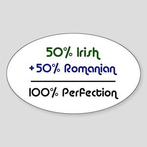 Irish & Romanian Oval Sticker