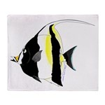 Moorish Idol Throw Blanket
