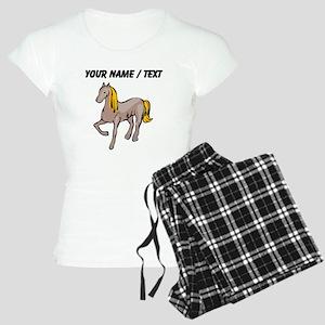 Custom Blond Hair Horse Pajamas