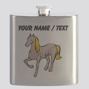Custom Blond Hair Horse Flask