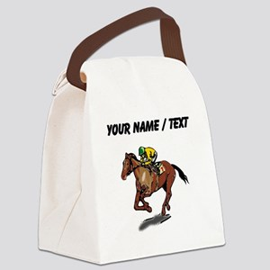 Custom Race Horse Canvas Lunch Bag