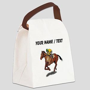Custom Race Horse Canvas Lunch Bag