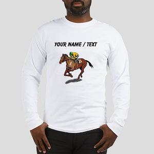 Custom Race Horse Long Sleeve T-Shirt