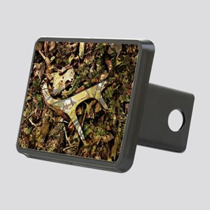 camouflage deer antler Rectangular Hitch Cover