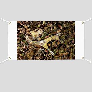 camouflage deer antler Banner