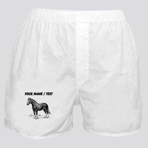 Custom Clydesdale Horse Sketch Boxer Shorts