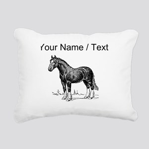Custom Clydesdale Horse Sketch Rectangular Canvas