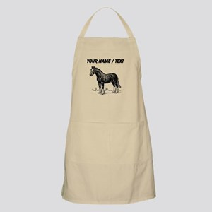 Custom Clydesdale Horse Sketch Apron