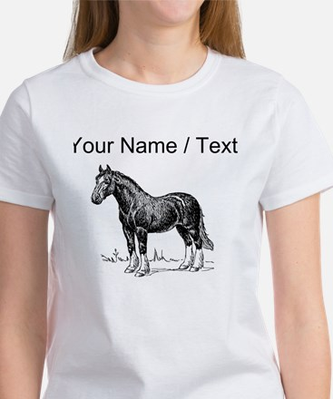 Custom Clydesdale Horse Sketch T-Shirt