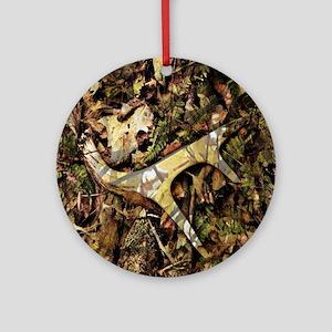 camouflage deer antler Round Ornament