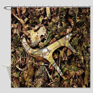 camouflage deer antler Shower Curtain