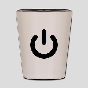 Geek Power Symbol Ideology Shot Glass