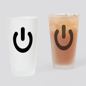 Geek Power Symbol Ideology Drinking Glass