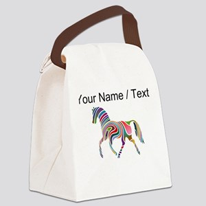 Custom Rainbow Horse Canvas Lunch Bag