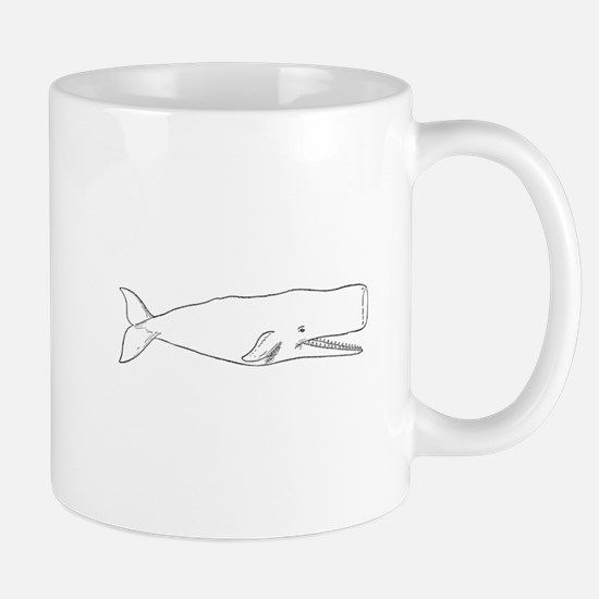 Sperm Whale (line art) Mugs