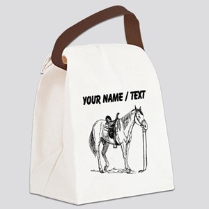 Custom Horse Drawing Canvas Lunch Bag