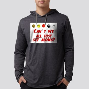 Cant We All Just Get Along Mens Hooded Shirt