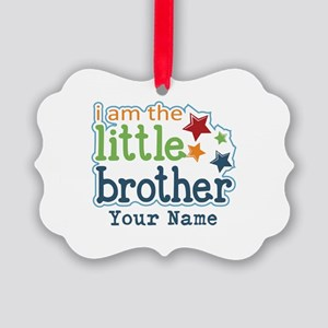 Little Brother - Personalized Picture Ornament