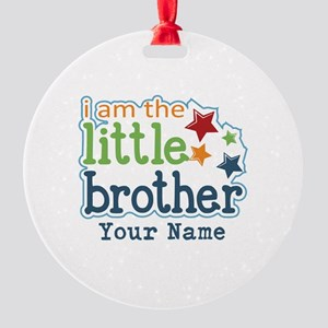 Little Brother - Personalized Round Ornament