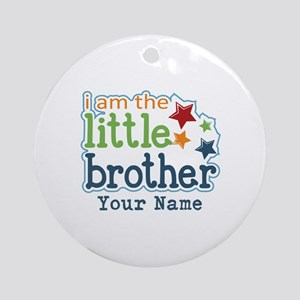Little Brother - Personalized Ornament (Round)