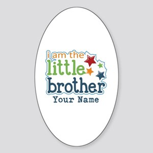 Little Brother - Personalized Sticker (Oval)
