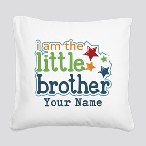 Little Brother - Personalized Square Canvas Pillow