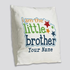Little Brother - Personalized Burlap Throw Pillow