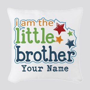 Little Brother - Personalized Woven Throw Pillow